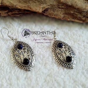 Pendientes en plata de ley 925 con piedras preciosas PPETNICA16